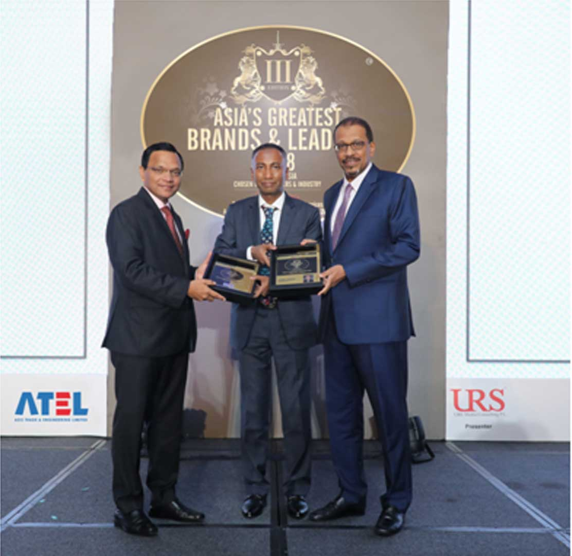 Asia's Greatest Brands and Leaders Award, 2018