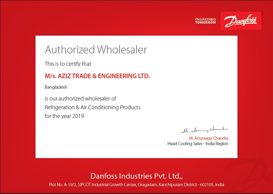 ATEL is the Authorized Wholesaler of Danfoss Industries Pvt. Ltd.